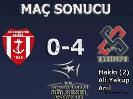 1926 Bulancakspor 0 1074 Çankırıspor 4
