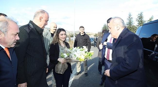 Ulaştırma ve Altyapı Bakanı Mehmet Cahit Turhan Çankırı'ya Geldi