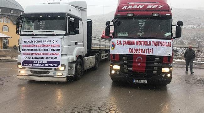 Çankırı'da Nakliyeciler Taşımacılıkla İlgili Uygulamaları Protesto Etti