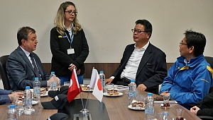 Rektör Ayrancı Sumitomo Rubber AKO Başkanı Masatsugu Nishino'yu Ziyaret Etti