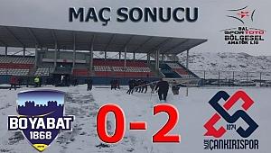 Boyabat 1868 Spor 0 1074 Çankırıspor 2