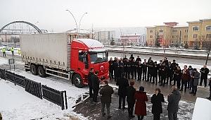 """Şehitler, Yaranlar Diyarı Çankırı'mızdan Deprem Bölgesine """"Bizim de Tuzumuz Olsun"""" Sloganıyla 10 ton Yardım"""