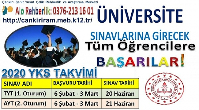 Üniversite Sınavı Başvuruları 6 Şubat-3 Mart