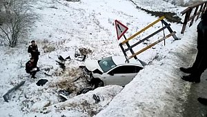 Yapraklı İlçesi Bademçay Köprüsünde Yine Kaza!!..