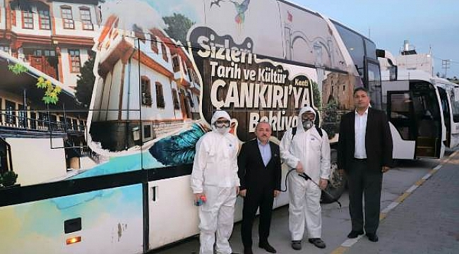 Çankırı Belediyesi Corona Virüse Karşı Tedbirleri Arttırdı