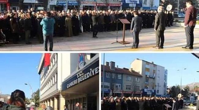 Çankırı'da Belediye Çalışanları Mesaiye İstiklal Marşı Okuyarak Başladı