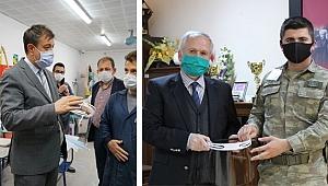 ÇAKÜ'de Üretilen Maske ve Siperlikler Kurumların İhtiyacını Karşılamaya Devam Ediyor
