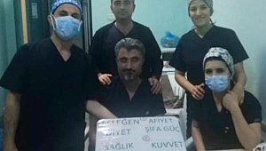 Çankırı'da Sağlık Çalışanlarına Moral Desteği