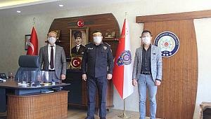 İl Emniyet Müdürlüğüne 150 Adet Siper Maske Hediye Edildi