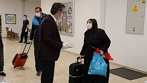 Çankırı'da Karantina Süresi Sona Eren 262 Vatandaş Evlerine Uğurlandı