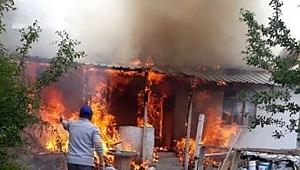 Çankırı'nın Büyükhacıbey Köyünde Yangın