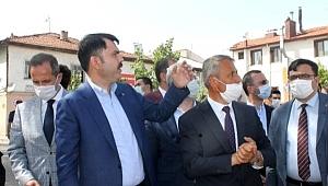 Çevre Ve Şehircilik Bakanı Murat Kurum Çerkeş'te İncelemelerde Bulundu