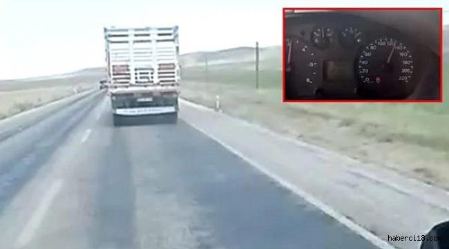 Çankırı'da Ambulansa Yol Vermeyen Kamyon Şoförü Cezalandırıldı