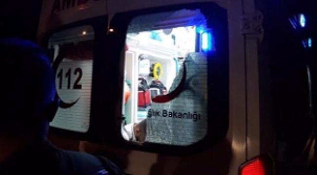 Çankırı'da Araca Bindirilmek İstenen Yaralı Aracın Camlarını Kırdı