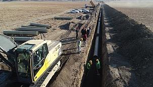 Koyunbaba Barajı Sulaması İnşaatında Çalışmalar Hızla Devam Ediyor