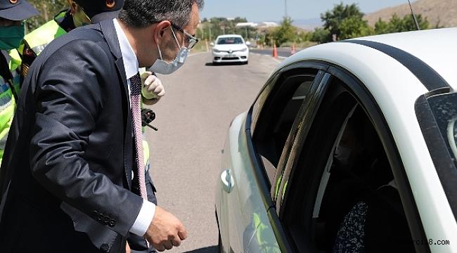 Valimiz Abdullah Ayaz Trafik Denetimlerine Katıldı