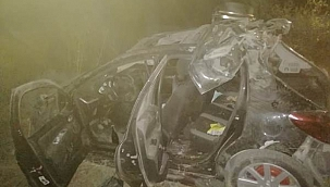Çankırı Kalesinden Şehir Merkezine İnen Araç Uçuruma Yuvarlandı 6 Yaralı