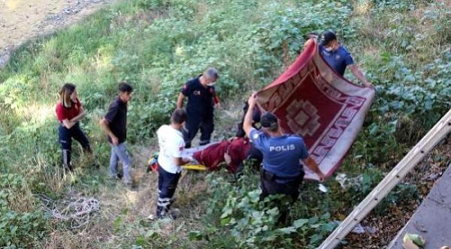 Psikolojik Rahatsızlığı Olduğu Düşünülen Bir Bayan Çankırı'da Çaya Atladı