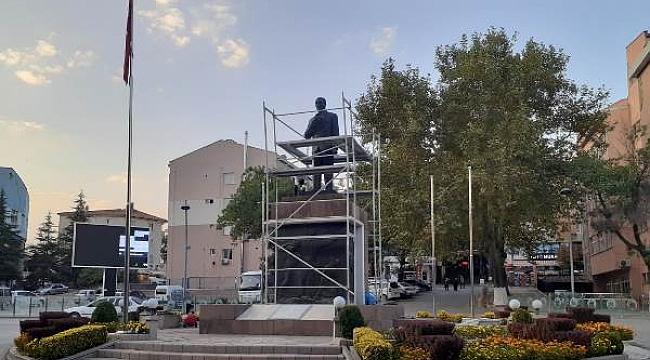 Çankırı'da Atatürk Anıtı Bakıma Alındı
