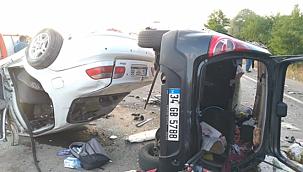 Çankırı'nın Kurşunlu İlçesinde Meydana Gelen Trafik Kazasında 6'sı Ağır 8 Kişi Yaralandı