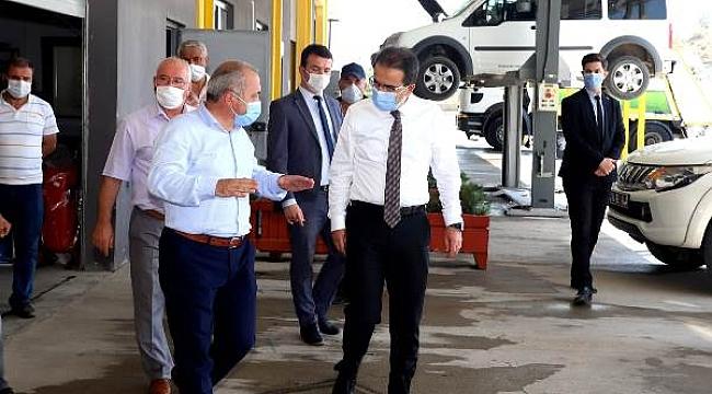 Vali Ayaz'dan Makine İkmal Bakım ve Onarım Müdürlüğüne Ziyaret