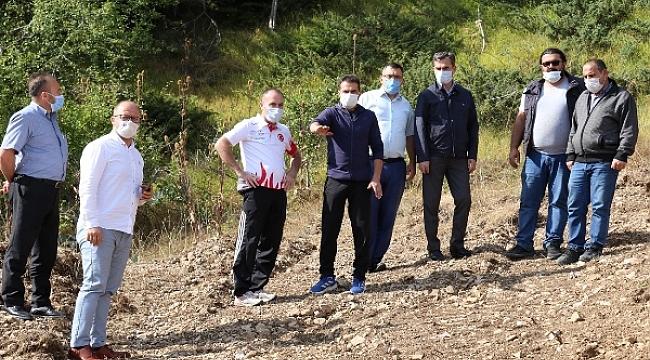 Ilgaz Dağına Kızak Yarış Pisti Yapılması İçin Çalışmalara Başlandı