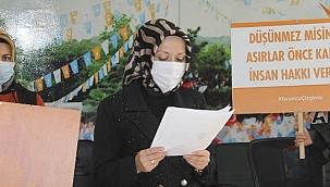 """AK Parti Çankırı Kadın Kolları Başkanı Çilhan: """"Şiddet Bizim Turuncu Çizgimizdir"""""""