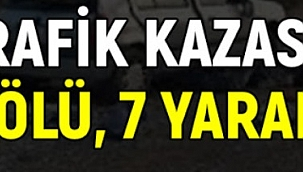 Çankırı'da Trafik Kazası 7 Yaralı 1 Ölü