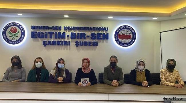 Çankırı Memur-Sen Kadınlar Komisyonu Basın Açıklaması
