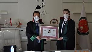 Çankırılı Genç Avukat Mehmet Çetin Kendi Avukatlık Bürosunu Açtı