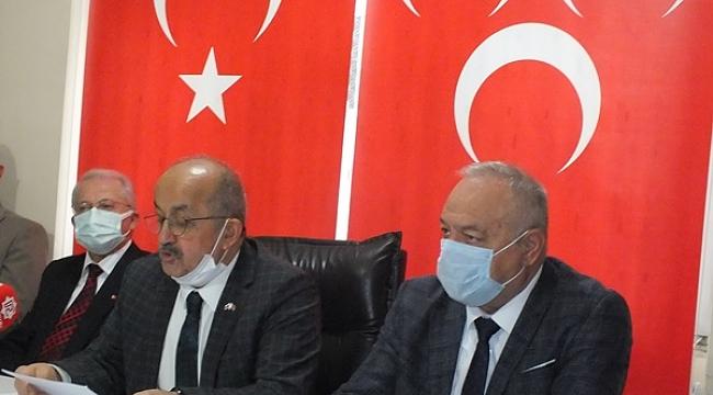 MHP Çankırı İl Başkanı Ahmet Kurt Parti Binasında Basın Toplantısı Yaptı