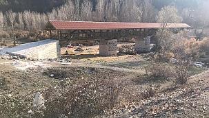 Tarihi Ahşap Çaylı Köprüsü'ndeki  Onarım Çalışmaları Bitti