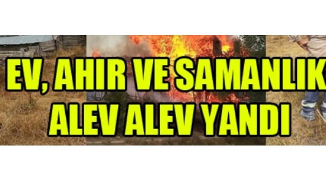 Orta İlçesi Özlü Köyünde Çıkan Yangında Bir Ev Kullanamaz Hale Geldi