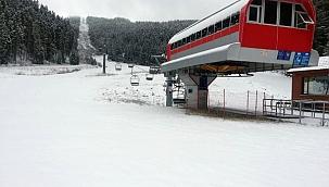 Yıldıztepe'ye Beklenen Kar Yağdı