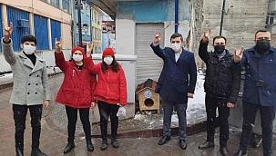 Çankırı Ülkü Ocakları Soğuk Kış Günlerinde Sokak Hayvanlarını Unutmadı