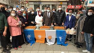 AK Parti İl Başkanlığından Kandil Kutlama Mesajı Ve Lokma Dağıtımı