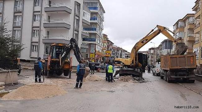 Çankırı'da Yağmur Suyu ve Kanalizasyon Hatları Ayrılıyor