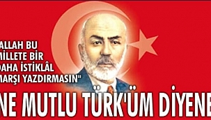 İl Protokolü İstiklal Marşı'nın Kabul Edildiği Günü Ve Mehmet Akif Ersoy'u Andı
