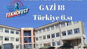 Teknofest 2021'de Gazi18, 111 Takım Arasında Türkiye 6.sı Oldu