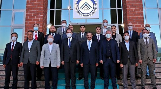 Rektör Çiftçi, Milletvekili Çivitcioğlu ve İlçe Belediye Başkanları İle