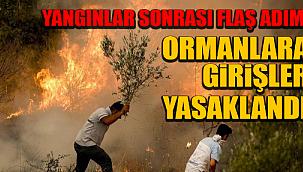 Çankırı'da Vatandaşların Ormanlık Alanlara Girişleri Yasaklandı