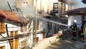 Çankırı Uzunyol Caddesi Üzerinde Yangın