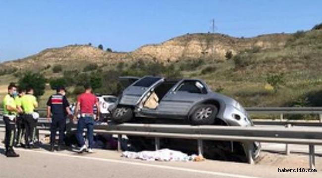 Kurşunlu Ilgaz Karayolunda Ölümlü, Yaralanmalı Trafik Kazası 1 Ölü 5 Yaralı