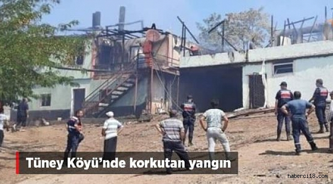 Tüney Köyünde Yangın