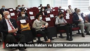 Çankırı'da İnsan Hakları Ve Eşitlik Kurumu Anlatıldı