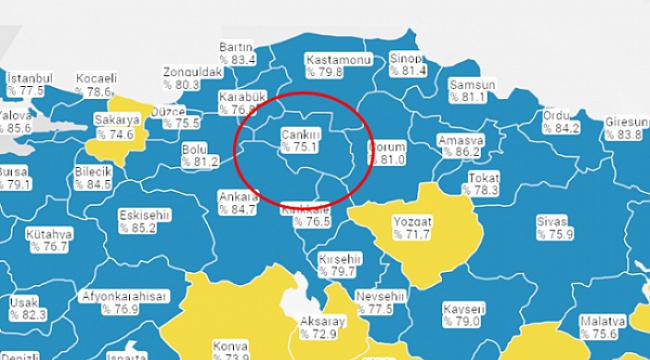 Şükürler Olsun ki Çankırı Kovid-19 Riks Haritasında Maviye Döndü