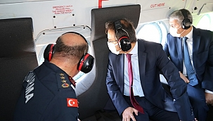 Valimiz Abdullah Ayaz Havadan Yapılan Trafik Denetimine Katıldı