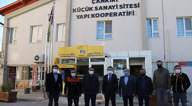 Valimiz Abdullah Ayaz, Küçük Sanayi Sitesi Esnafını Ziyaret Etti