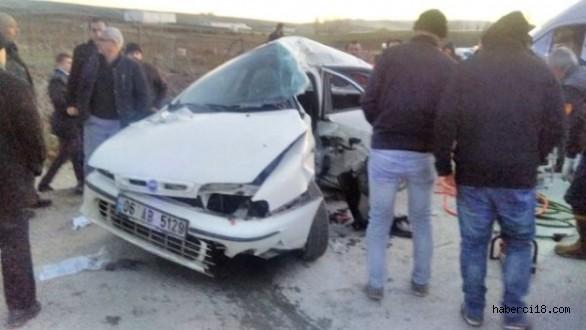 Ankara-Çankırı Karayolunda Trafik Kazası 1 Ölü 4 Yaralı