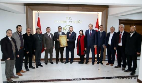 Ankara Çankırılılar Derneği'nden Valiliğimize Ziyaret